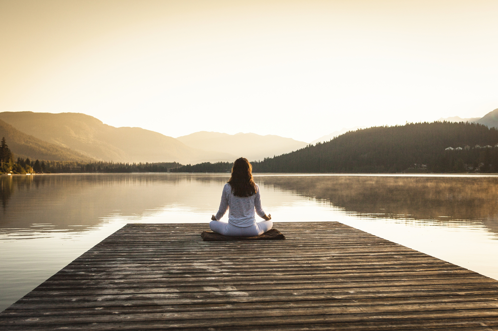 Woman Meditating by the Lake .jpg