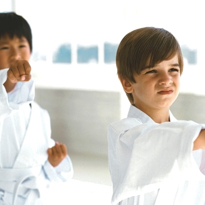 FRIENDSHIPS ARE BORN IN EACH KARATE CLASS.