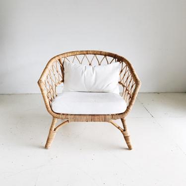 White Rattan Chair   Price: