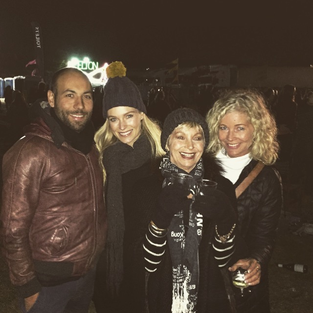 The ladies plus Val of 3 Generations... This is myself, hubby and my amazing grandmother and mother at the Elton John concert last year.
