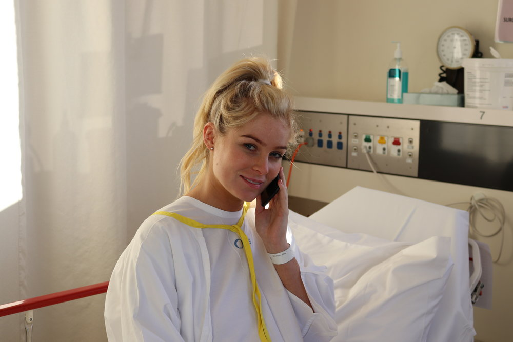 I was next in for surgery and I made my last phone call to Lisa haha.