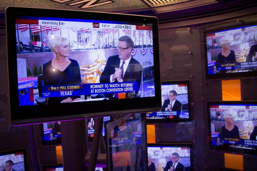 Election Day 2012: Election day coverage broadcasts at Rockerfeller Plaza.