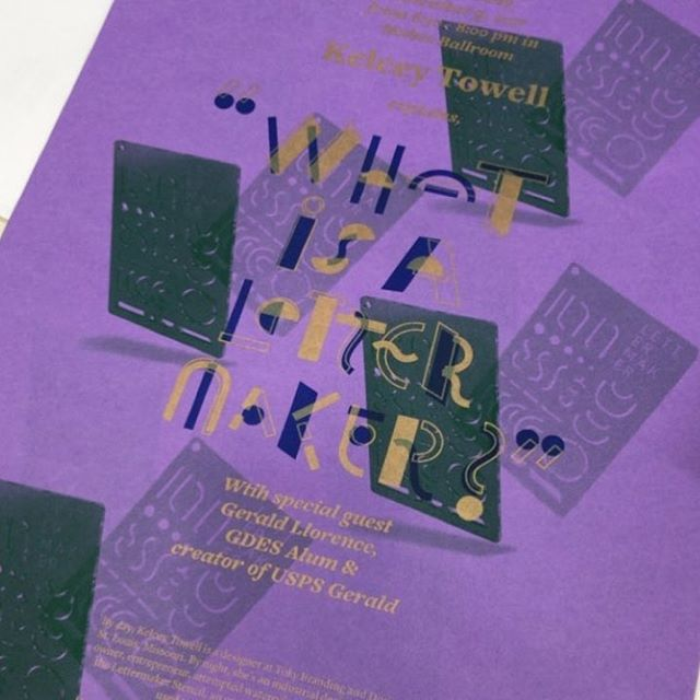 ⭐️ Attention, #atx ! ⭐️ This Thursday I'm headed to Austin, TX to talk all things #LetterMaker. Hear about Letermaker's humble beginnings, my grandpa, and all my failed attempts to make a design tool. 👇🏻 St. Edward's University  Robert and Pearl Ragsdale Center 6:30–8:00pm . . Event poster by: @risographlab #risoraphlab #austindesignweek17