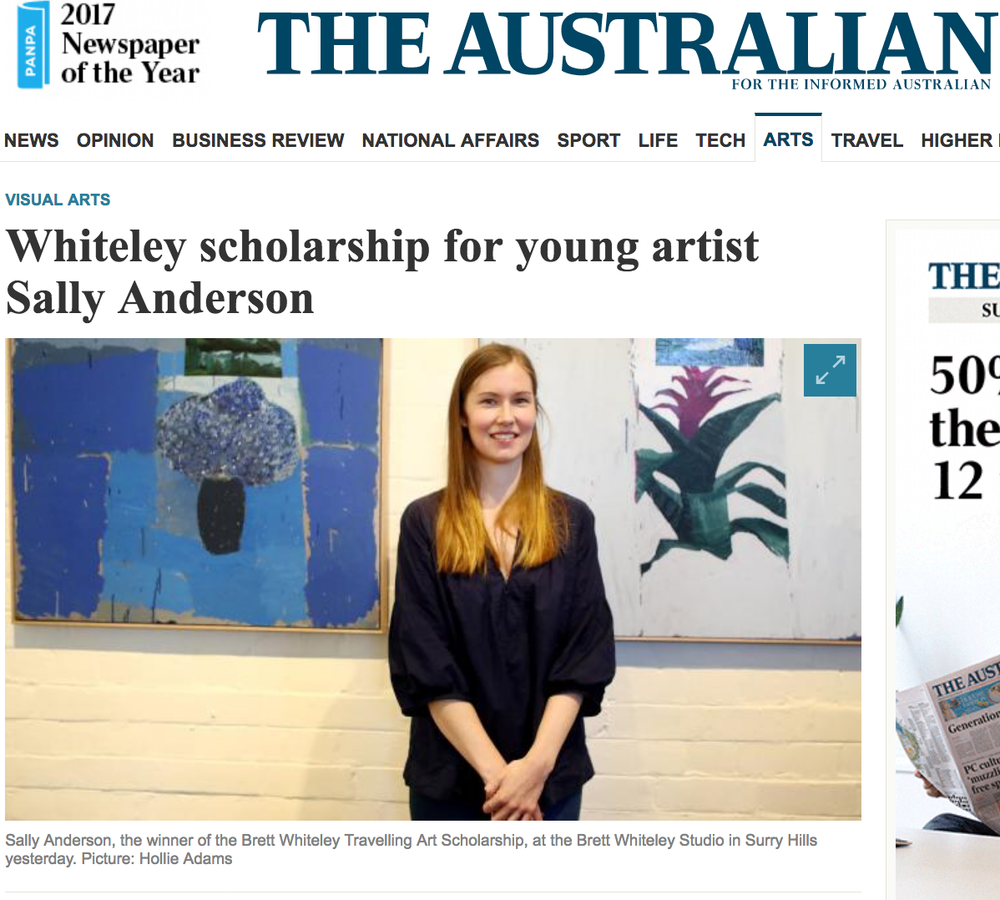 http://www.theaustralian.com.au/arts/visual-arts/whiteley-scholarship-for-young-artist-sally-anderson/news-story/ac344c7d4b42940c5645e95c4c130770