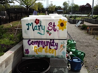 Water tank at Mary Street Community Garden image credit: www.oshawa.ca