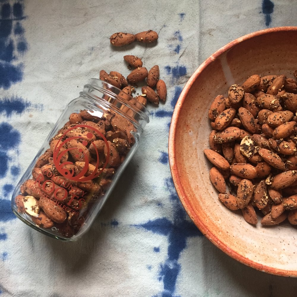 Activated Shiitake and Dulse Almonds - recipe below…