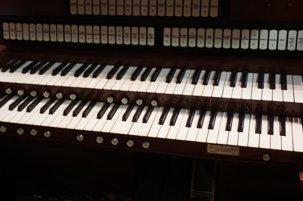 The Keyboard Of The Majestic Pipe Organ