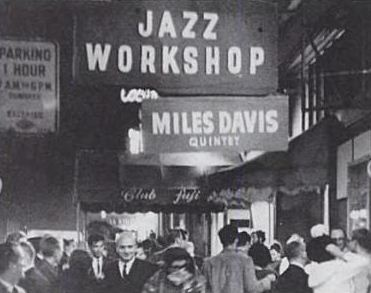 Miles On The Marquee At The Jazz Workshop On Broadway (photo courtesy of theconcertdatabase.com)