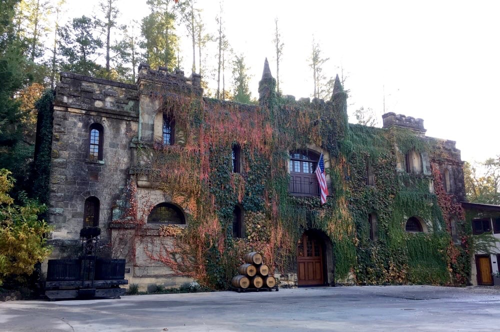 The otherworldly Château Montelena in Calistoga