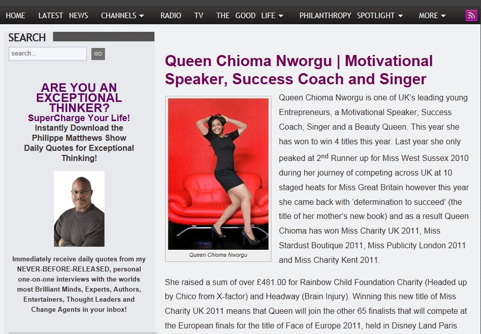 Press — Queen Chioma