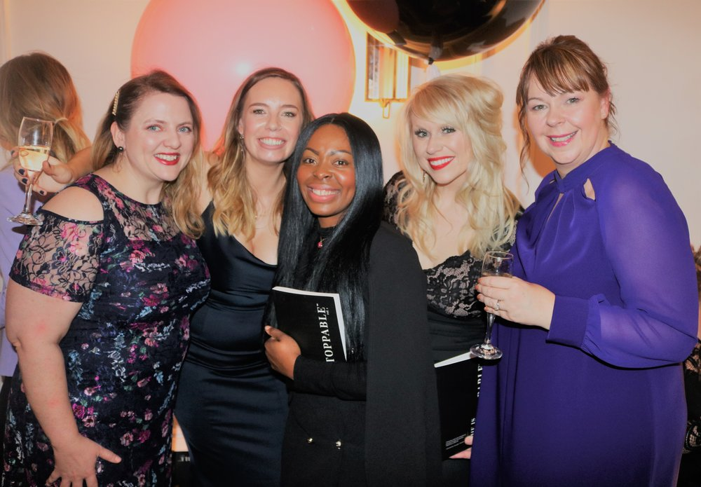 Yolande Letsou Fashion Blogger and Artist with a few of the She is Unstoppable International Best Selling Authors, Bridget Zyka, Rebecca Hawkes, Megan Fraiser and Joanna Petrie-Rout