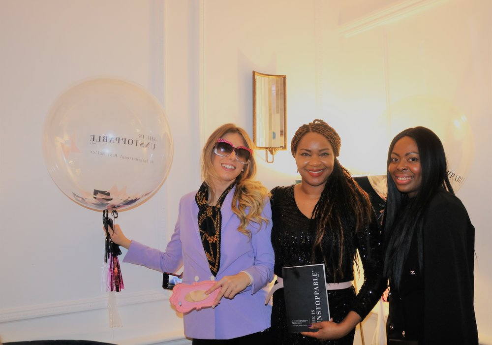 Queen with Isabella Danise (Success Coach and Lifestyle Expert) and Yolande Letsou