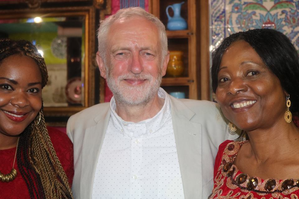 Queen Chioma with Jeremy Corbyn (MP) and  Dr Elizabeth Achinewhu-Nworgu