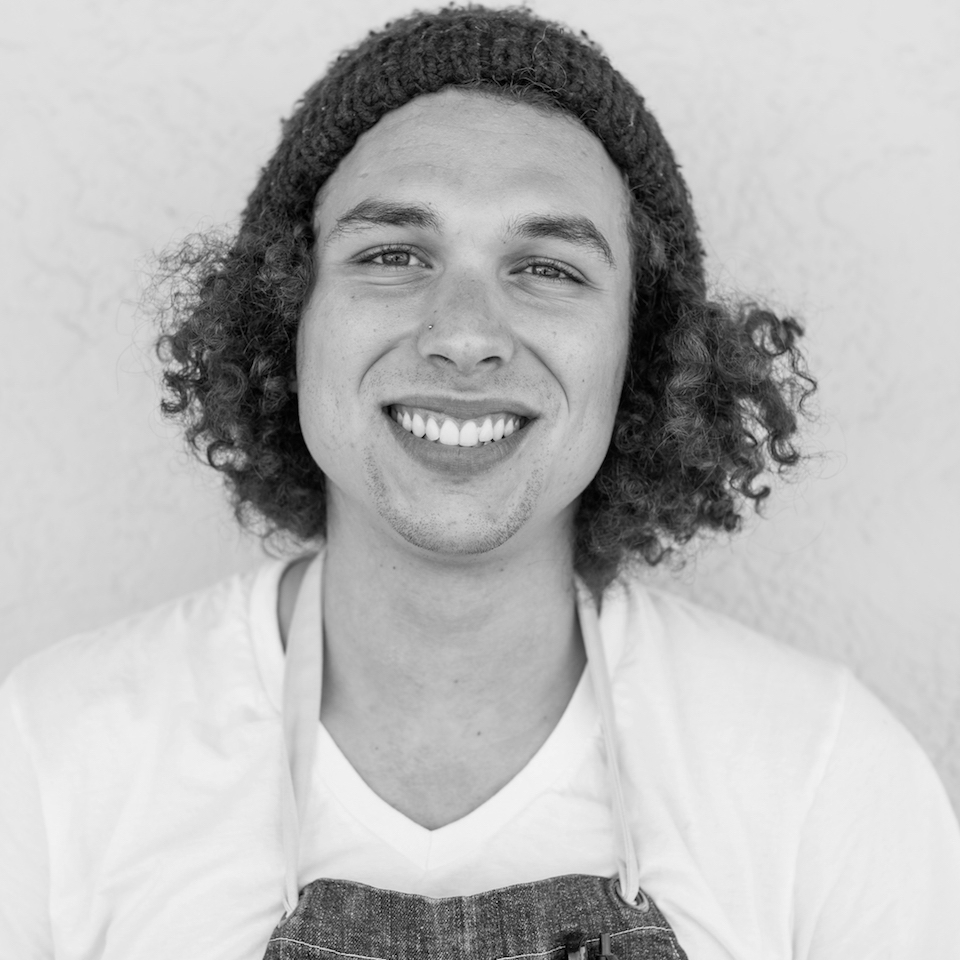 ASSISTANT BAKER Zach Fontanes-Halliday is Aaron's right-hand man. Eager to learn everything about food, Zach has worked in kitchens locally and in Colorado from an early age.