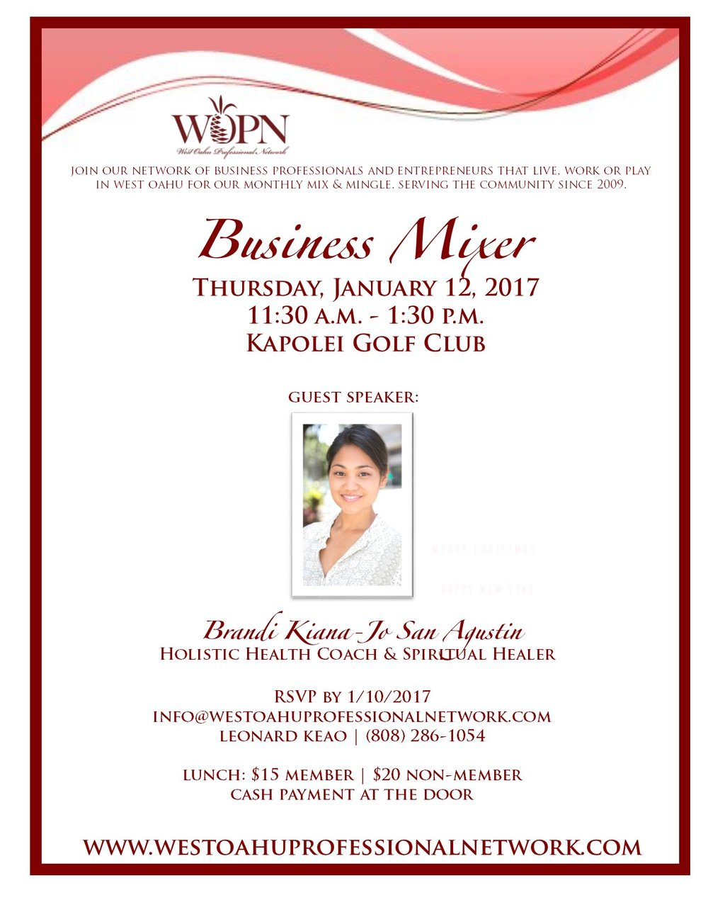 WOPN Guest Speaker January 2017