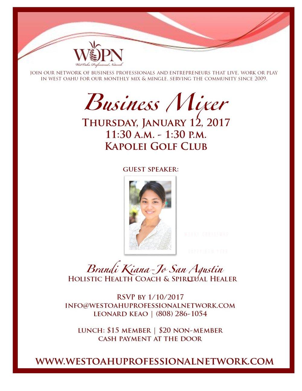 WOPN Guest Speaker January 2017