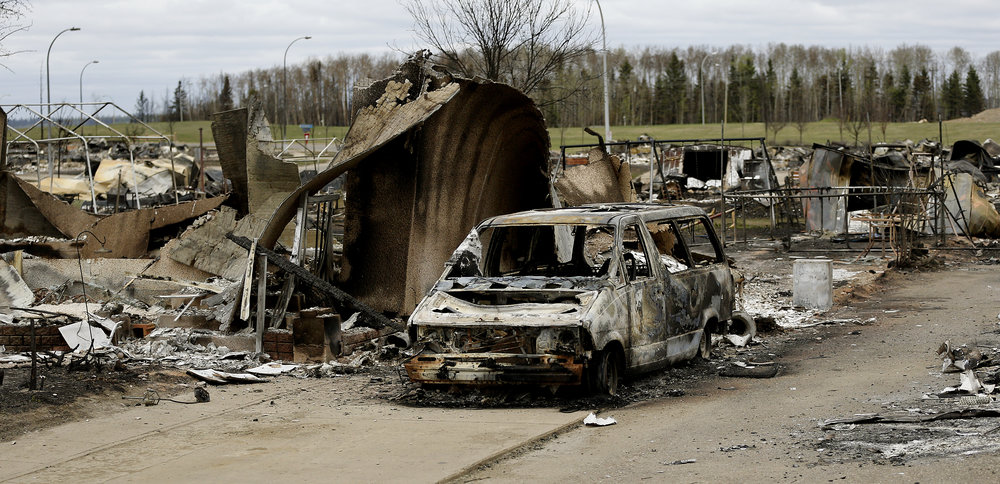 The remains of a Fort McMurray home on May 9, 2016. Larry Wong/Postmedia Network