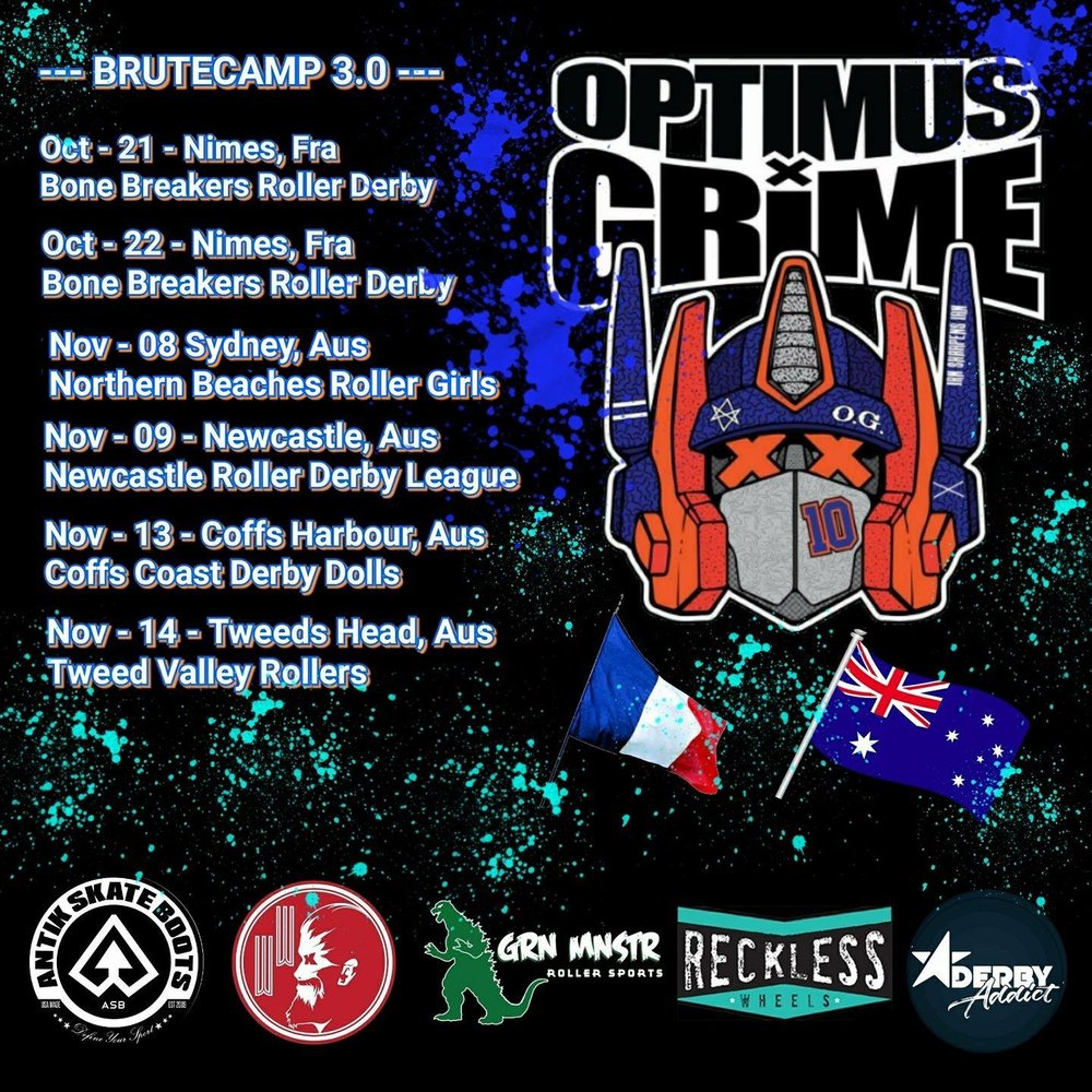 Optimus Grime Bootcamp 3.0 AUS Tour