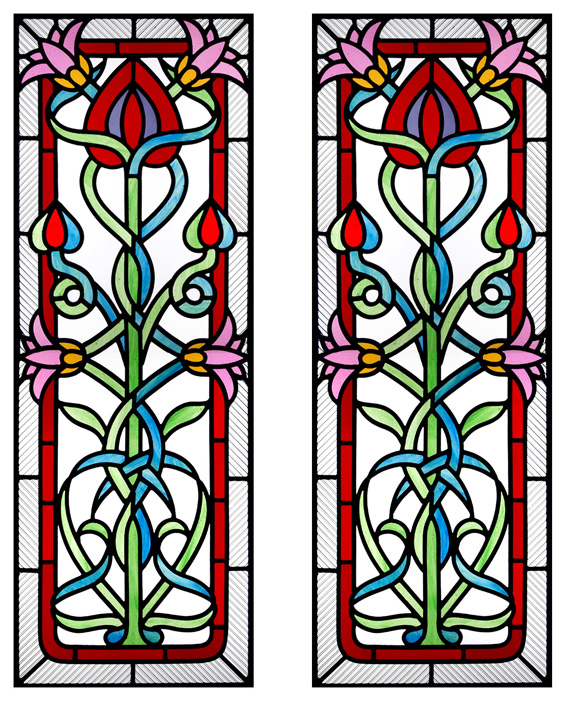 Art Nouveau Door Panels