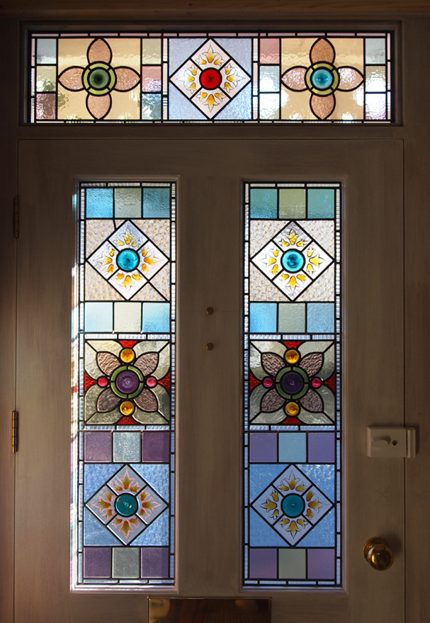 Traditional flora jamieson for Victorian stained glass window film