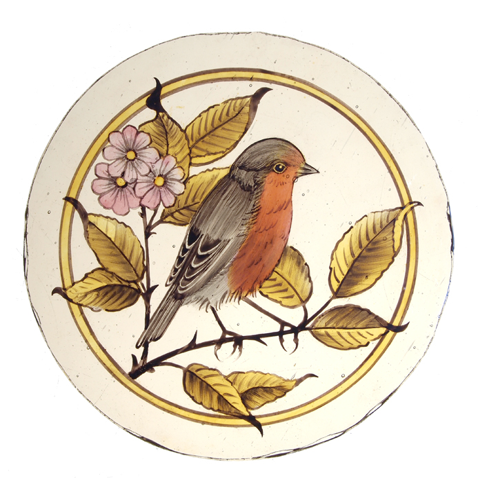 Robin Stained Glass Roundel
