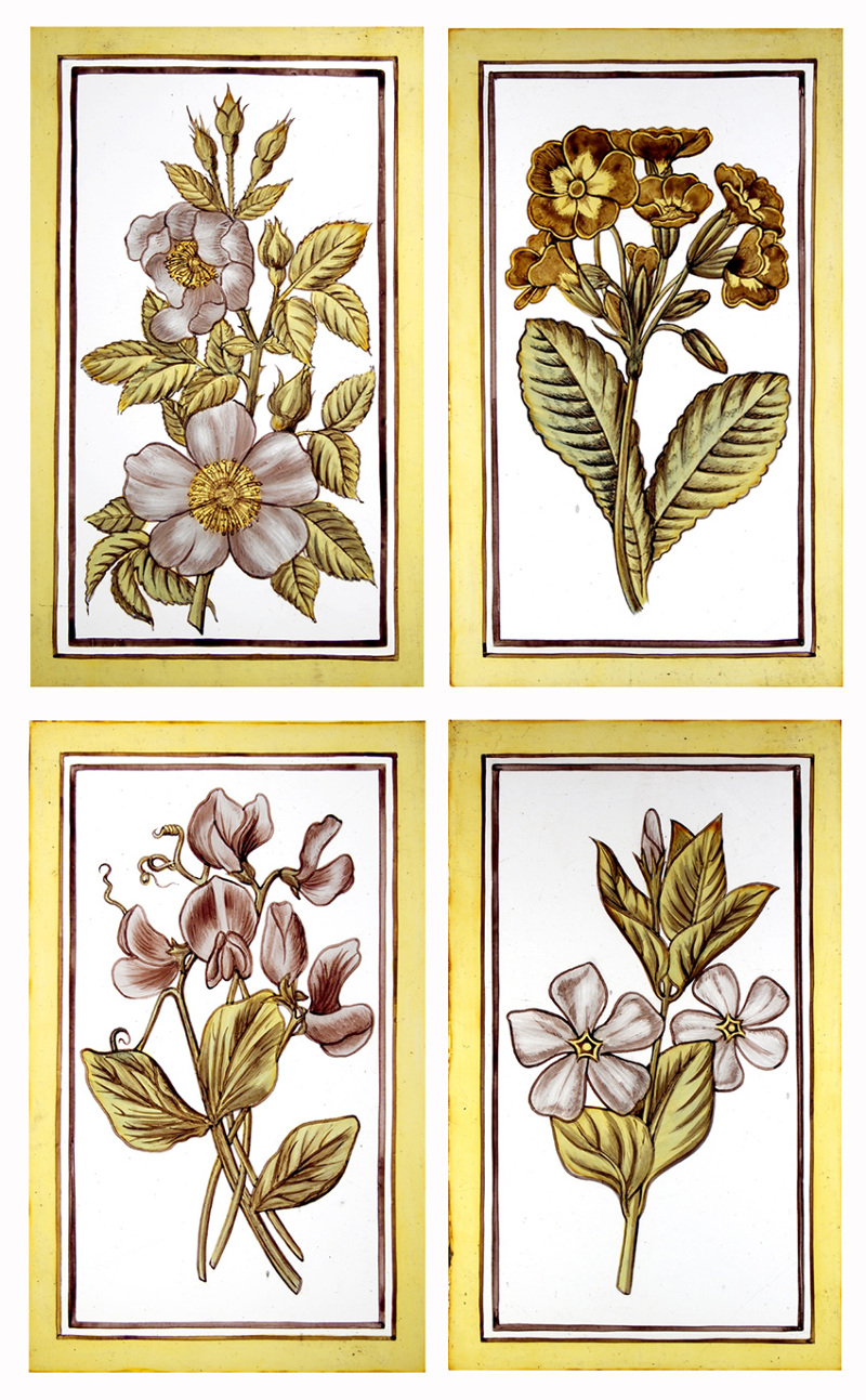 Botanical Stained Glass Panels