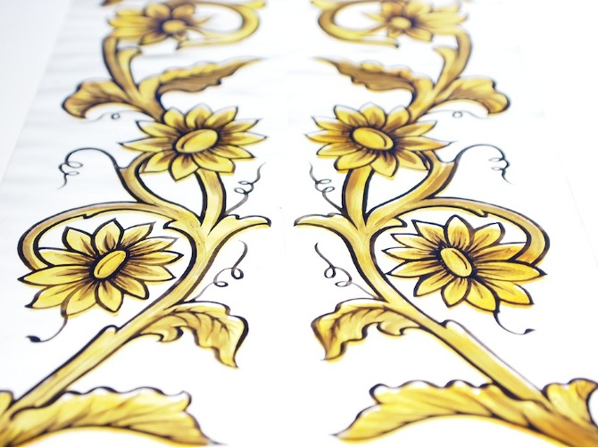 Victorian Stained Glass Scrolls