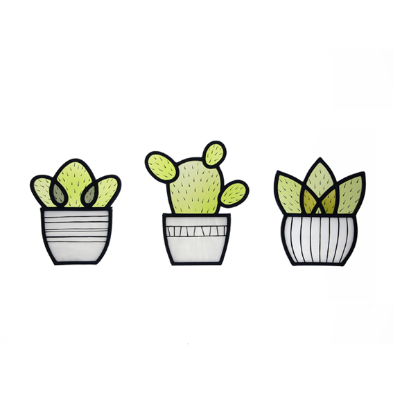 Three Little Cacti