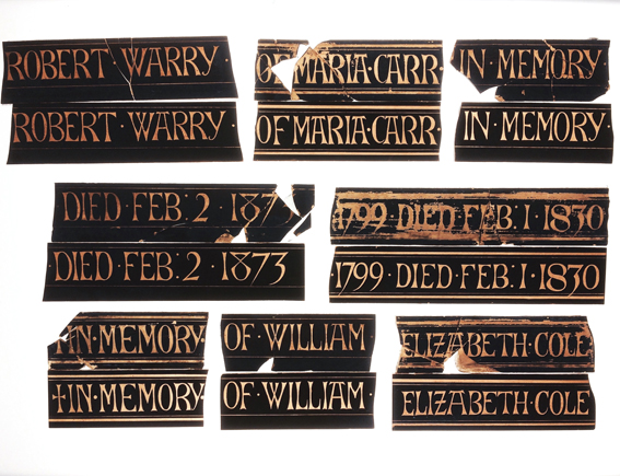 All Saints, Mattock - Church Window Inscriptions.