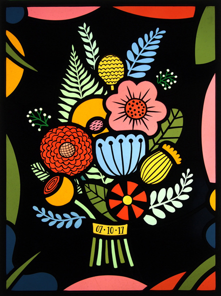 CONTEMPORARY STAINED GLASS WEDDNIG BOUQUET #3 FLORA JAMIESON LOW RES.jpg