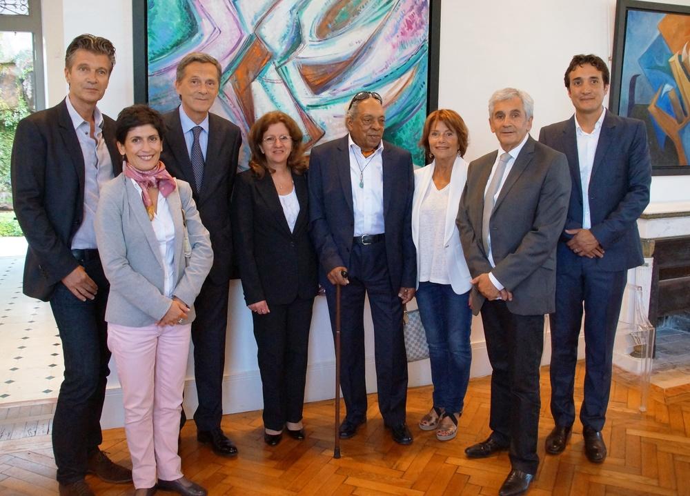 Monsieur le Maire et ses elus, Ambassade Cuba, Christophe Leguillou, David et Lorenzo Padilla.JPG
