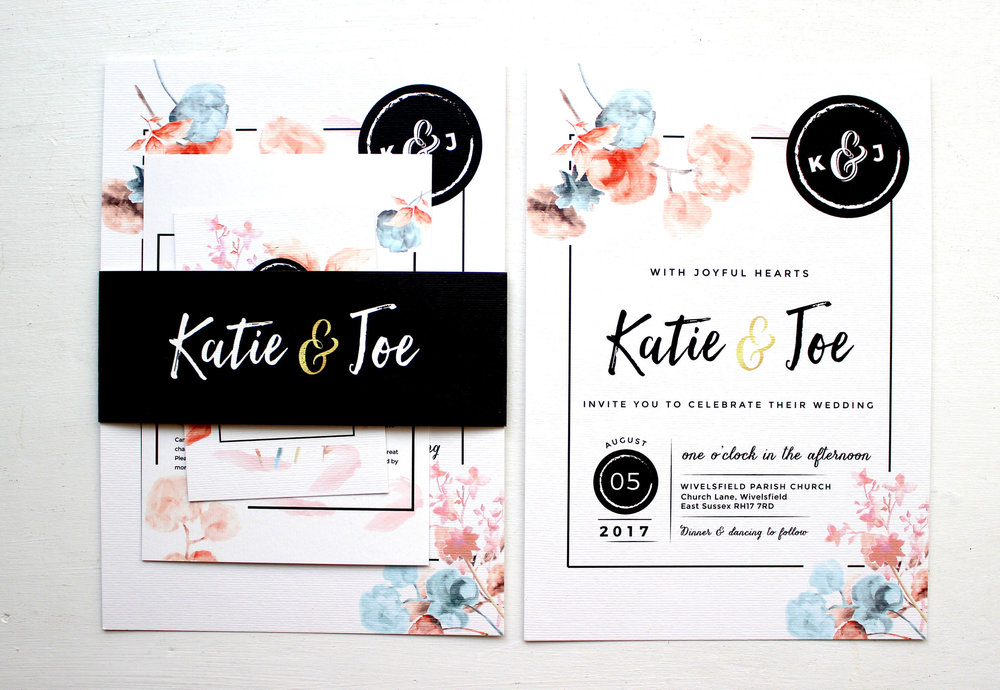 Katie & Joe's adaptation of my Vintage Floral template - I love the colour way we went with!