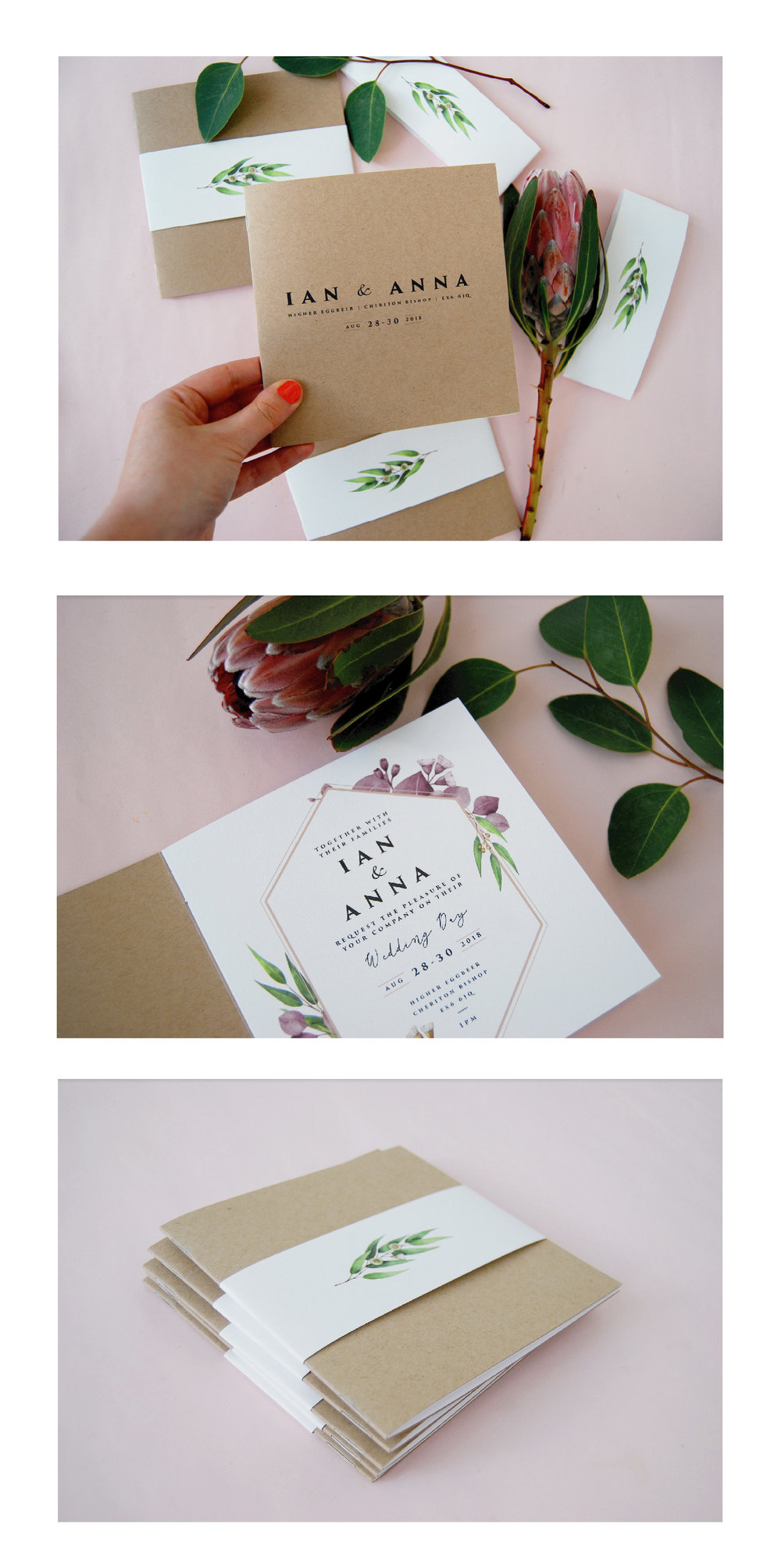 My dear friends Ian & Anna's booklet style invitations