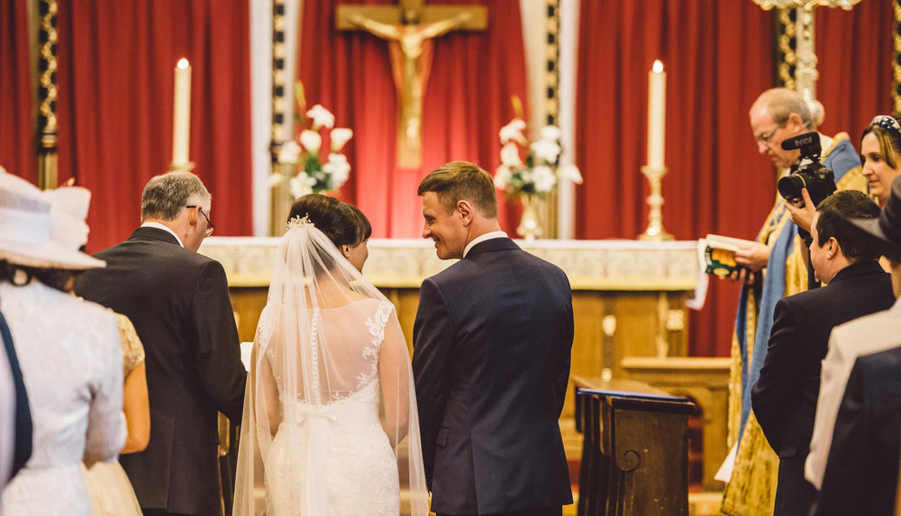 A beautiful wedding at St Tydfil's old parish church