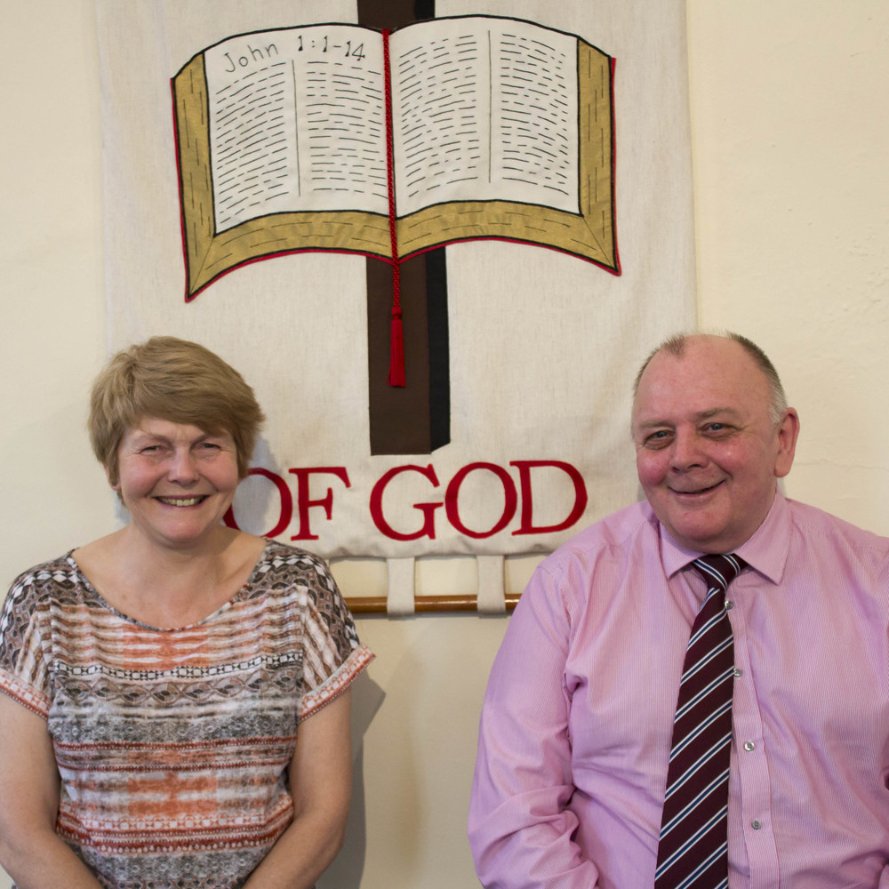 St Tydfil's Well sub wardens Sue Morris and Jeff Davies