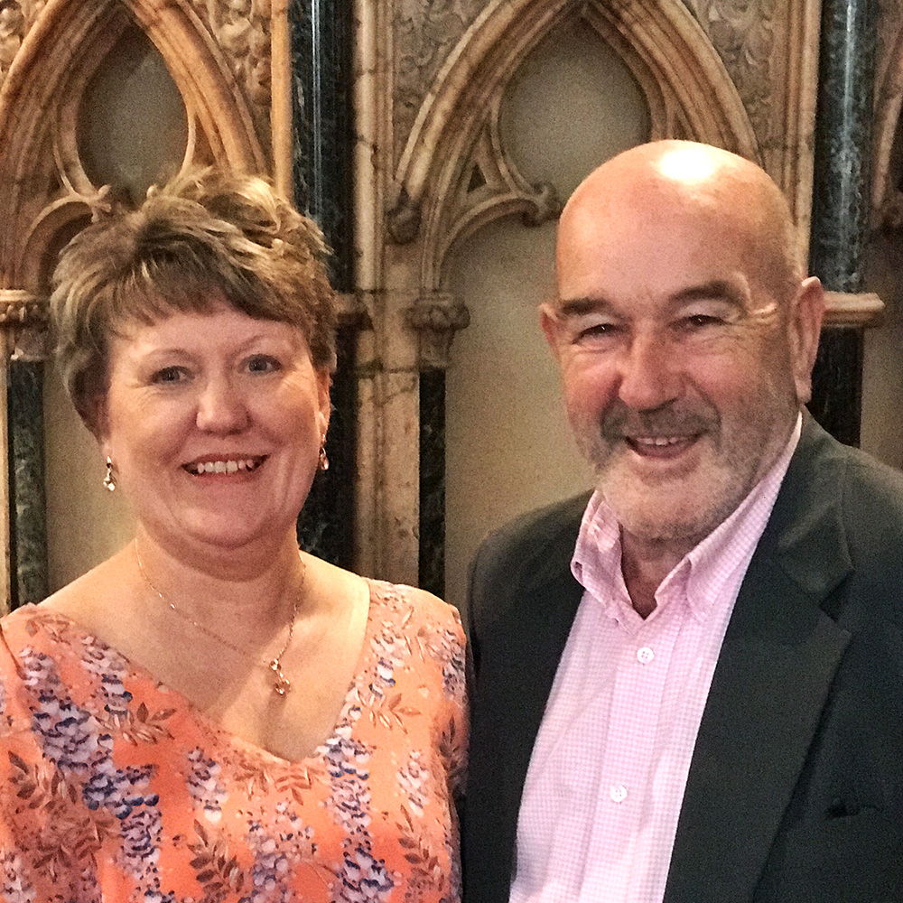 St Tydfil's old parish church sub-wardens Elaine Fisher and Bill Evans