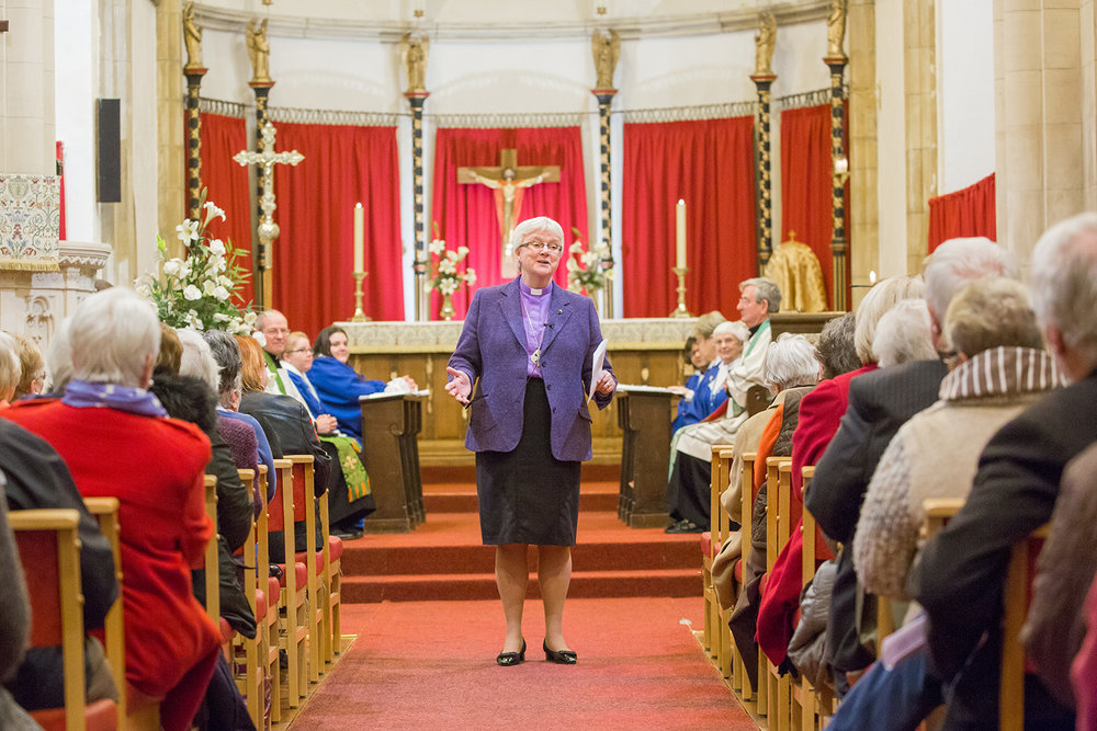 Bishop June preaches at St Tydfil's old parish church