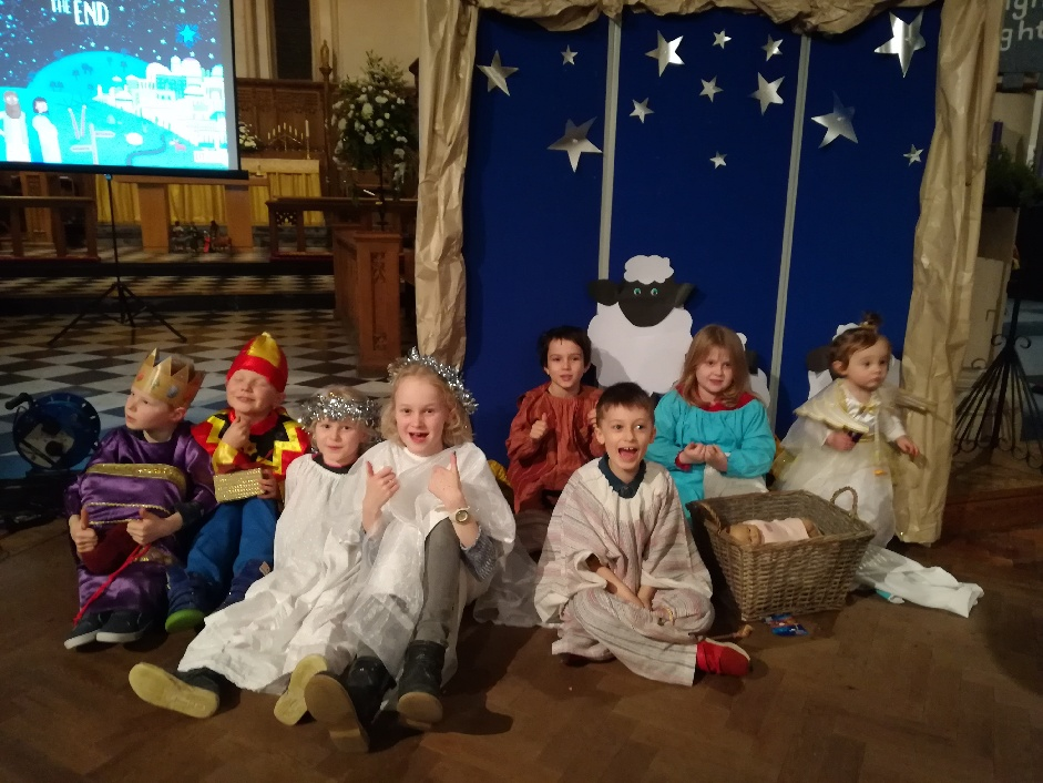 Children at the Crib Service