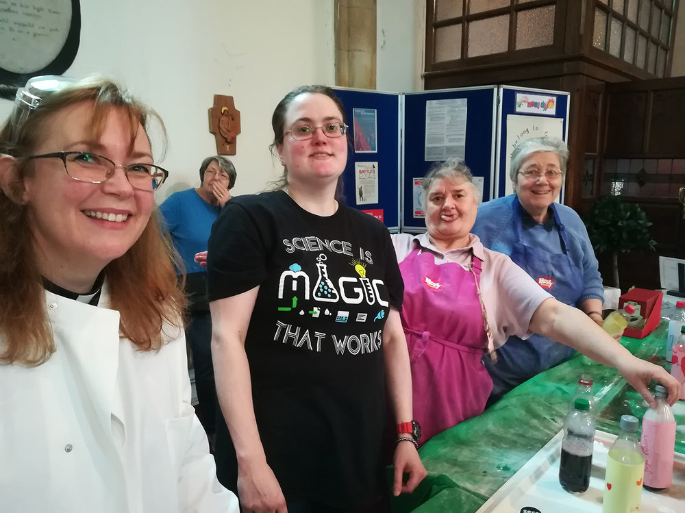 Rev Charlotte, Dr Claire, Celia and Jan