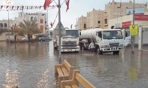Tankers pumping out areas of flooding