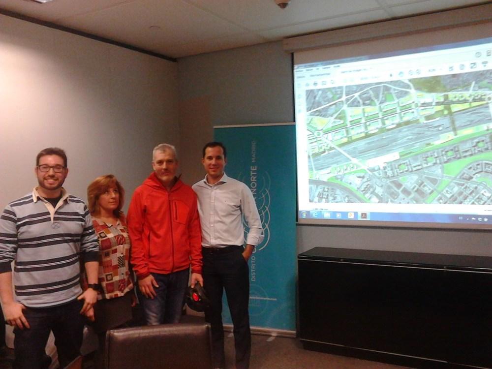Reunión en las oficinas de Distrito Castellana Norte con @deteibols