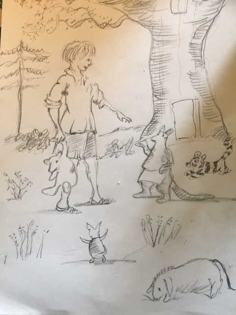 AA Milne sketch Fox Searchlight