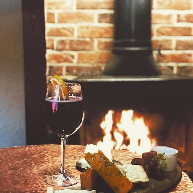 It's come to that time of year.  The nights are drawing in and the cold has arrived. We have the solution. Come down and have 2 glasses of our warming mulled wine and a cheese board for two £15 #relaxing #bythefireplace #warmingup