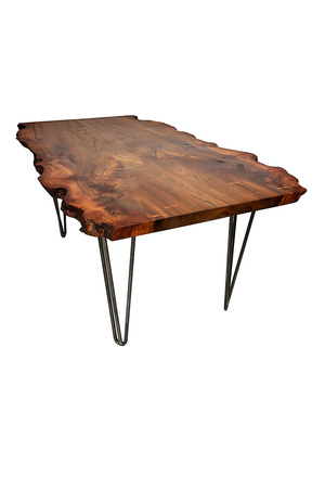 Live Edge Dining Table on Hairpin Legs Paul Frampton