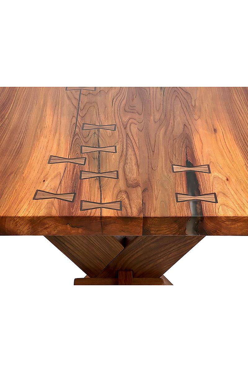 Live Edge Wood Tusk Tenon X Trestle Table U0027Timmy Elmsworthu0027