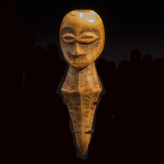 Bwami Society Ivory Peg Figure