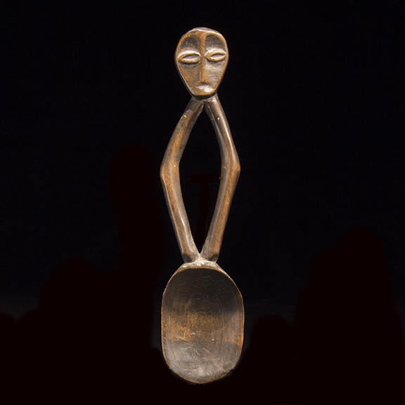 Bwami Society Wood Figurative Spoon - 822