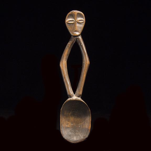 Bwami Society Wood Figurative Spoon - 822