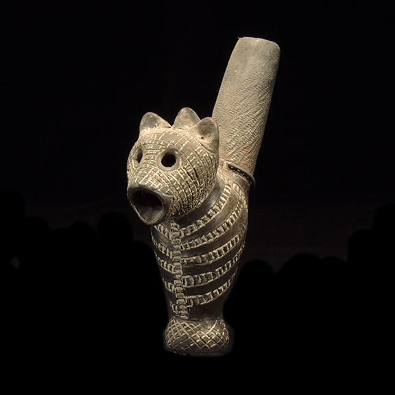 Shilluk Terracotta Pipe - 1073