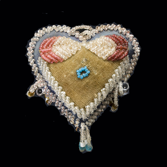 Beaded Heart-Shaped  Whimsy